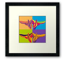 Psychedelic calla Framed Print