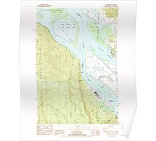 USGS Topo Map Washington Cathlamet 240390 1985 24000 Poster