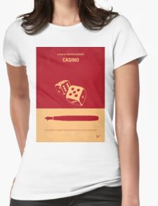 No348 My Casino minimal movie poster Womens Fitted T-Shirt