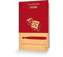 No348 My Casino minimal movie poster Greeting Card