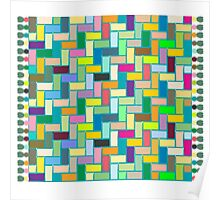 Colored carpet Poster
