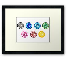 Colored disco ball stickers Framed Print
