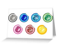 Colored disco ball stickers Greeting Card