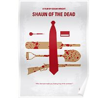 No349 My Shaun of the Dead minimal movie poster Poster