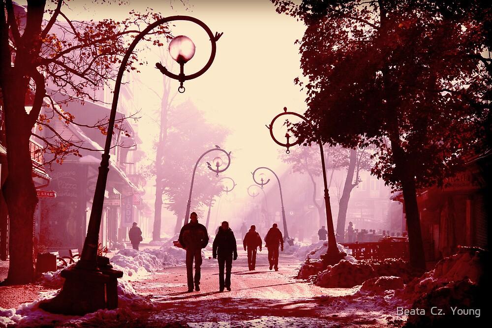 Streets of Zakopane. by Beata  Czyzowska Young