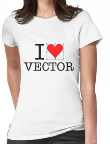 I heart vector Womens Fitted T-Shirt