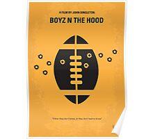 No352 My Boyz N The Hood minimal movie poster Poster