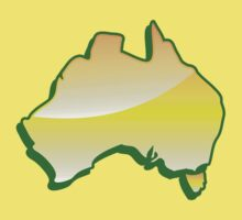 Australia Map simple in yellow One Piece - Short Sleeve