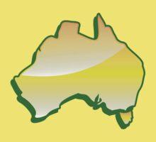 Australia Map simple in yellow Kids Tee
