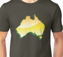 Australia Map simple in yellow Unisex T-Shirt