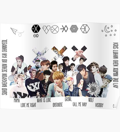 EXO - Collage Poster