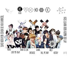 EXO - Collage Photographic Print