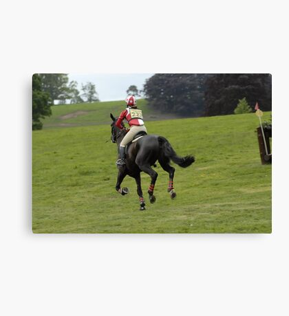 'Well done, on to the next one' Floors Castle Eventing May 2011 Canvas Print