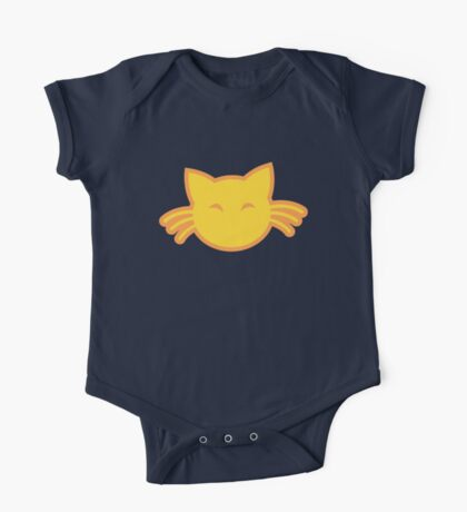 Cute kitty cat with whiskers One Piece - Short Sleeve