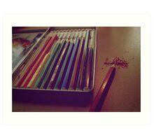 Colouring Pencils Art Print