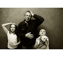 A serious family portait Photographic Print