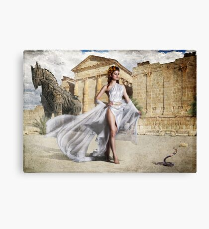 Goddess Of Troy Canvas Print