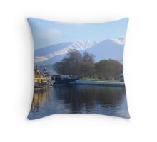 Ben Nevis from Corpach Throw Pillow