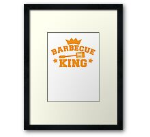 BARBECUE KING with tongs and a crown Framed Print