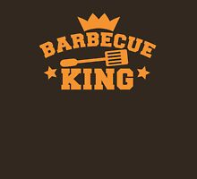 BARBECUE KING with tongs and a crown Unisex T-Shirt