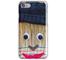 Stuffed man  with broom iPhone Case/Skin