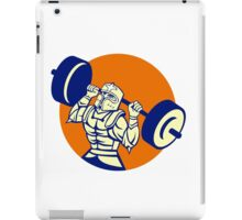 Black Knight Lifting Barbell Circle Retro iPad Case/Skin