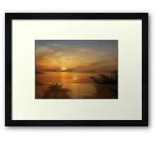 Multi Exposure, La Manga Sunset Framed Print