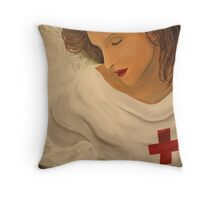 """Angel of the Battlefield"" Throw Pillow"