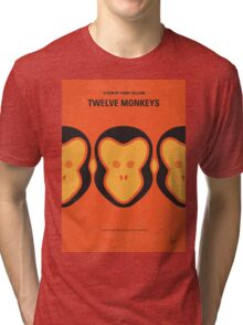 No355 My 12 MONKEYS minimal movie poster Tri-blend T-Shirt