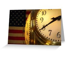 meet you under the clock... Greeting Card