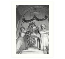 Staglieno cemetery Art Print