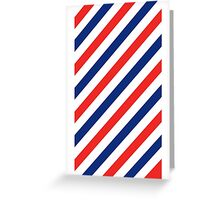 Barber Stripes Greeting Card