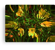 Circle of Flowers Canvas Print