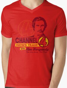 Channel 4 News Team with Ron Burgundy! Mens V-Neck T-Shirt