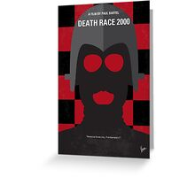 No367 My Death Race 2000 minimal movie poster Greeting Card