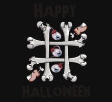 Happy Halloween Noughts and Crosses Kids Tee