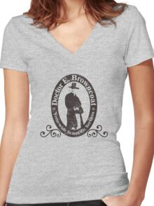 Doctor E. Browncoat Women's Fitted V-Neck T-Shirt