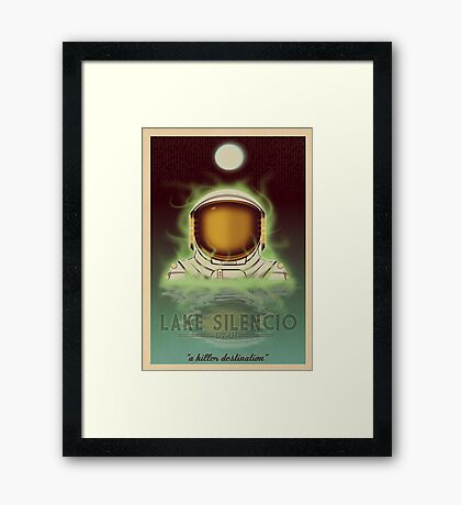 Travel To...  Lake Silencio Framed Print