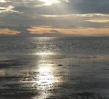 Sun Setting Over Spurn Point by Sarah Couzens