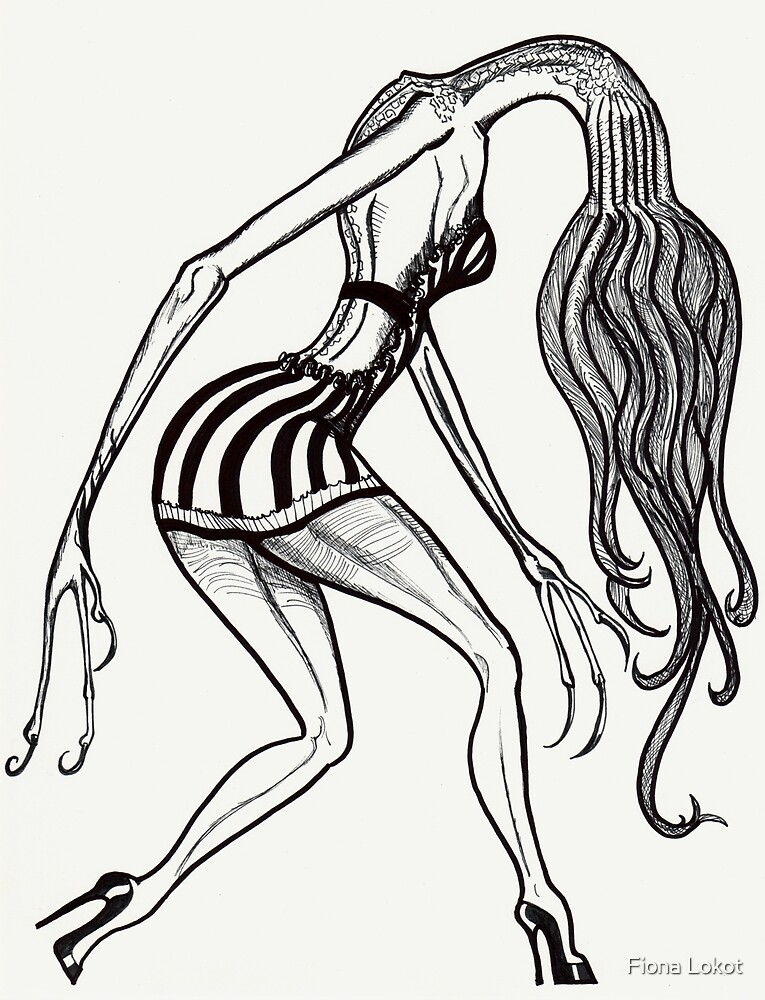 Womanly Tentacle Monster by Fiona Lokot
