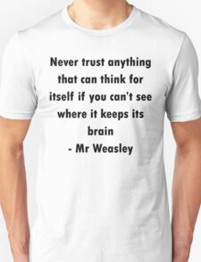 Mr Weasley Quote T-Shirt