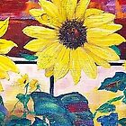Sunflowers and Train by Andreia Medlin