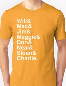 The Newsroom - First Names (White text) T-Shirt