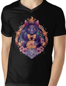 Maneki Luna Mens V-Neck T-Shirt