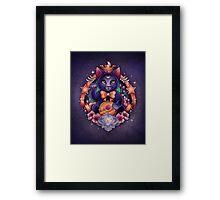 Maneki Luna Framed Print
