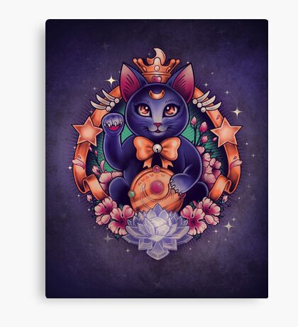 Maneki Luna Canvas Print