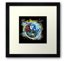 flux planet Framed Print