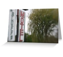 Nowhere Motel Greeting Card