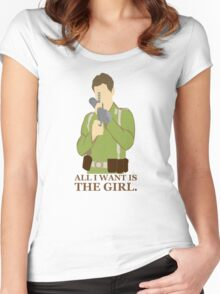 "Indiana Jones - ""All I Want is the Girl"" Women's Fitted Scoop T-Shirt"