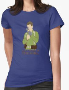"""Indiana Jones - """"All I Want is the Girl"""" Womens Fitted T-Shirt"""